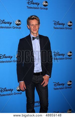 LOS ANGELES - AUG 4:  Gabriel Mann arrives at the ABC Summer 2013 TCA Party at the Beverly Hilton Hotel on August 4, 2013 in Beverly Hills, CA