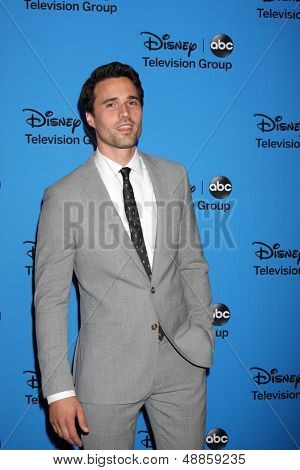 LOS ANGELES - AUG 4:  Brett Dalton arrives at the ABC Summer 2013 TCA Party at the Beverly Hilton Hotel on August 4, 2013 in Beverly Hills, CA