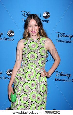 LOS ANGELES - AUG 4:  Sophie Lowe arrives at the ABC Summer 2013 TCA Party at the Beverly Hilton Hotel on August 4, 2013 in Beverly Hills, CA