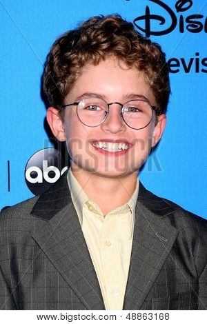 LOS ANGELES - AUG 4:  Sean Giambrone arrives at the ABC Summer 2013 TCA Party at the Beverly Hilton Hotel on August 4, 2013 in Beverly Hills, CA