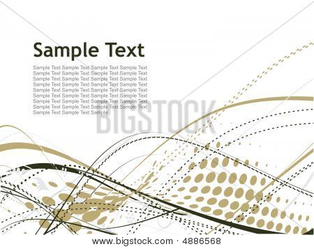 abstract wave halftone lines with sample text background poster