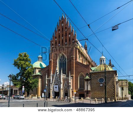 Dominican Basilica Of The Holy Trinity In Krakow - Poland