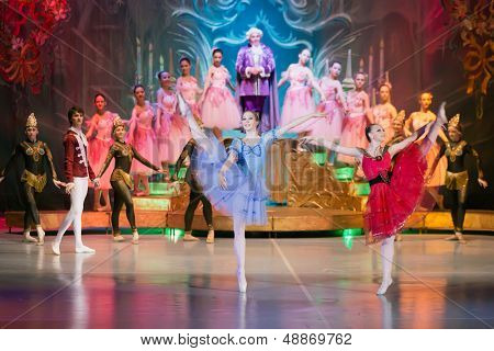 MOSCOW - DEC 30: New Years performance The Nutcracker, heroes of fairy tale on stage of the Cultural Center ZIL on December 30, 2012, Moscow,