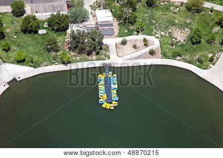 Paddleboats On The Lake