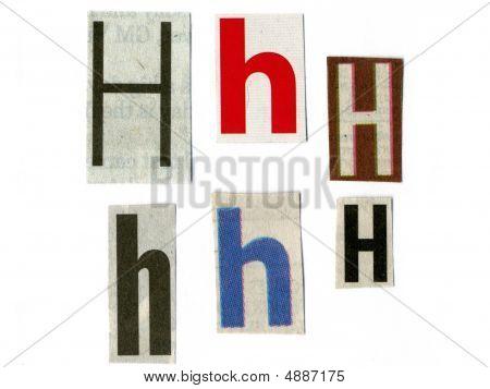 Letter Cut From Newsprint