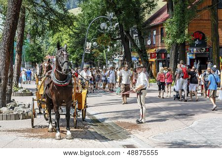 Coachman With His Horse In The Krupowki Str