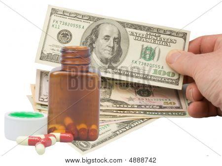 Hand  Paying Medication Bill