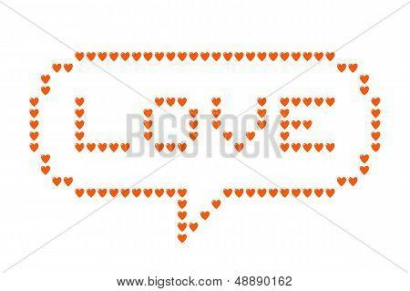 Love Hearts Speech Bubble