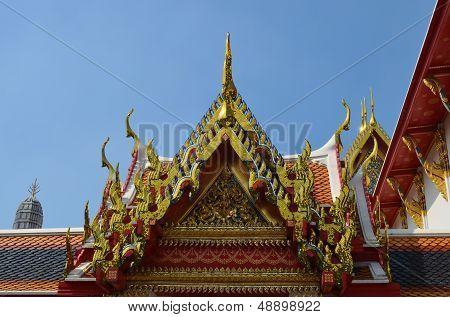Roof Of The Wat Temple,