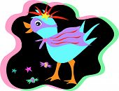 This blue Bird in a costume loves to party and eat lots of goodies. poster