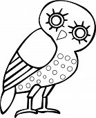 Greek owl sign and symbol for tattoo or artwork vector. poster