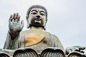 Tian Tan Buddha also known as the Big Buddha is a large bronze statue of a Buddha poster
