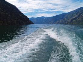 Wake In The Water On Lake Chelan Washington Usa