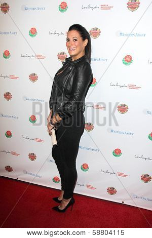 LOS ANGELES - JAN 5:  Angelique Cabral at the BCS National Championship Party at Pasadena Convention Center on January 5, 2014 in Pasadena, CA