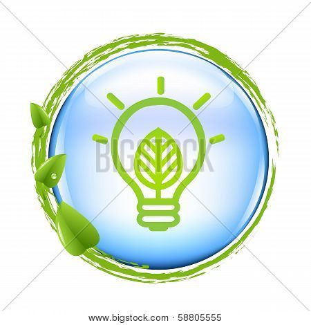 Blue Ball And Green Eco Lamp