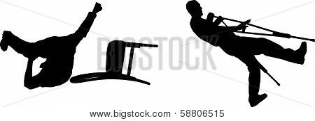 vector silhouette tumble