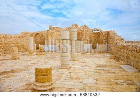 Ancient Church In Avdat
