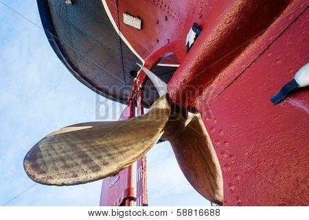 Brass Propellor Steam Tug