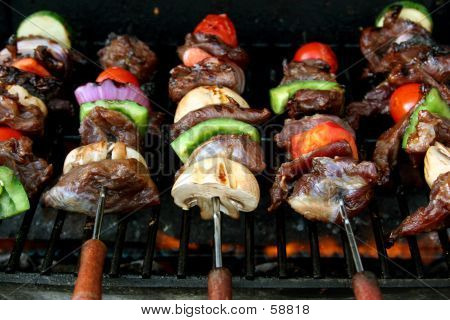 Front View Of BBQ Sticks
