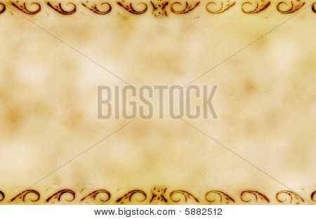 Grunge Background With Ornaments
