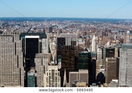 Aerial View Of Northern Manhattan