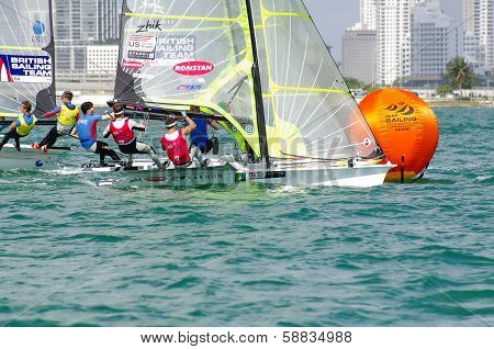 Brad Funk Of Plantation, Florida And Crew Trevor Burd Win Silver In The 49Er Class At The Isaf Saili