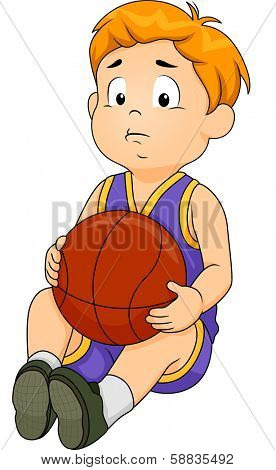 Sad disappointed cartoon boy images illustrations vectors sad illustration of a little boy in basketball gear wearing a sad expression on his face voltagebd Choice Image