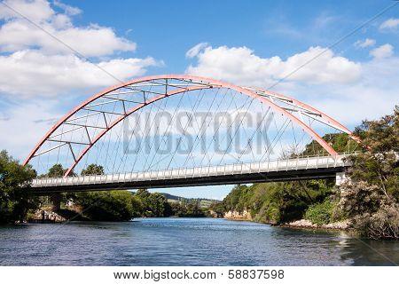 An Arch Bridge Over Waikato River