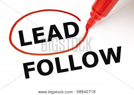 Lead Or Follow Red Marker