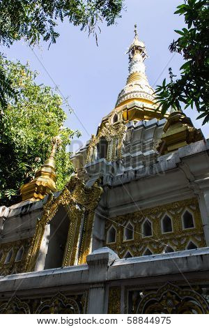 Pagoda Shan Style In Wat Kru Toa , Chiangmai Thailand