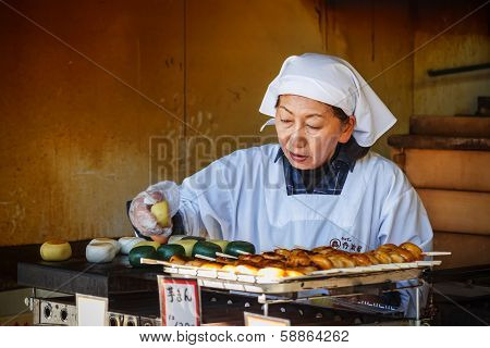 Japanese Sweet Shop Keeper