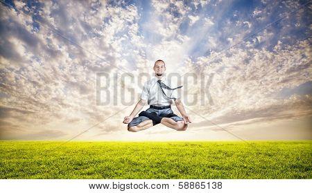 Business Yoga Levitation