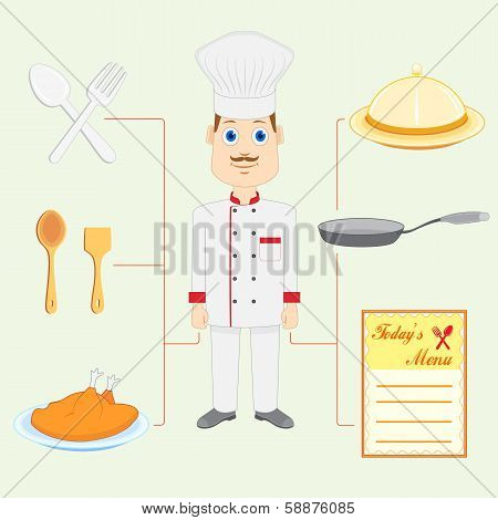 Chef with Dish