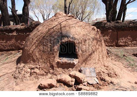 Native Horno Clay Oven in Bolivia, America