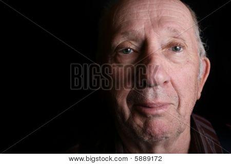 Elderly Man Looking At Viewer