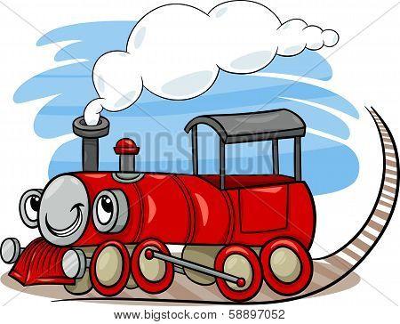 Cartoon Locomotive Or Engine Character