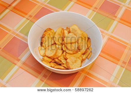 Homemade potatoes chips