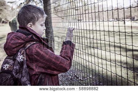 lonely sad kid after school
