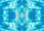Abstract cold ice blue and green background poster