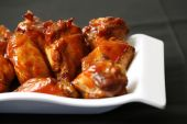 spicy chicken wings for dinner time and lunch time poster