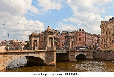 Lomonosov Bridge In Saint Petersburg, Russia