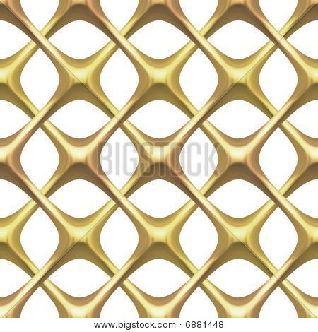 Gold Lattice On White
