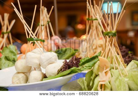 Steamboat And Barbecue Ingredient