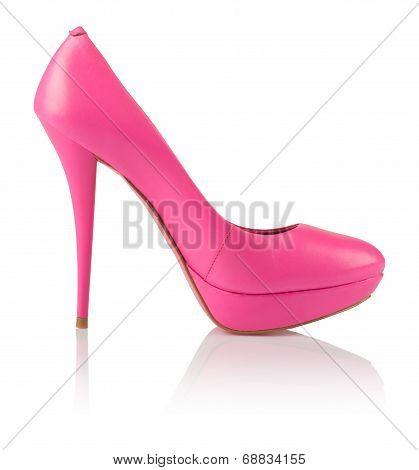 Fashionable pink women shoe