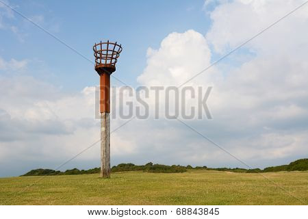 Beacon On East Hill Cliff In Hastings, England