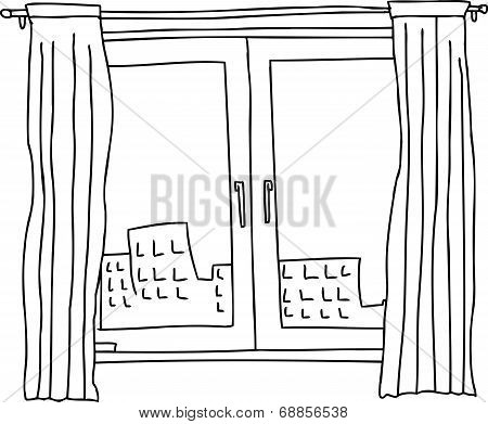 Black Outline Windows