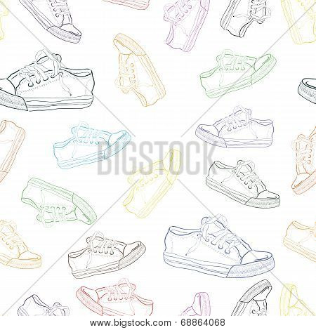 Seamless texture with sneakers 2