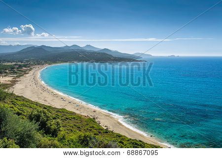 Losari Beach In Balagne Region Of Corsica
