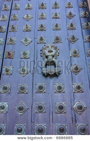 Door Of Cathedral - Santiago De Compostela, Spain