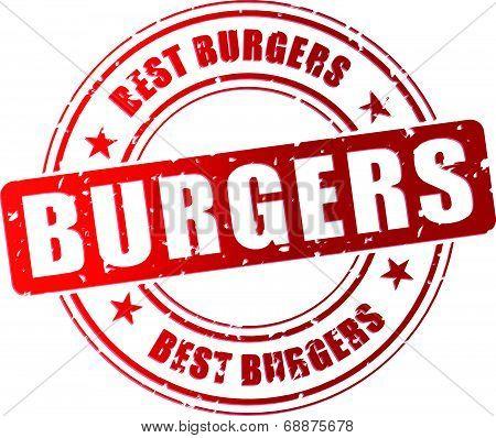 Vector Best Burger Stamp